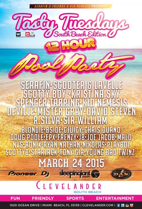 03-24-15 tasty tuesdays clevelander miami flyer